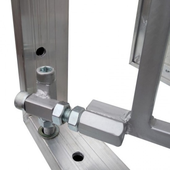 Inspection Door Magnetic Push Under Ceramic Tiles Steel Access Panel BAULuke L30x70 (aluminium)