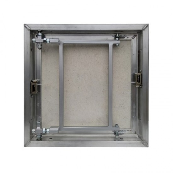 Inspection Door Magnetic Push Under Ceramic Tiles Steel Access Panel BAULuke L30x90 (aluminium)